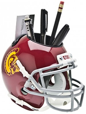 USC Trojans Authentic Mini Helmet Desk Caddy
