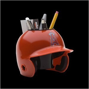 Los Angeles Angels of Anaheim Authentic Mini Batting Helmet Desk Caddy