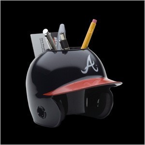 Atlanta Braves Authentic Mini Batting Helmet Desk Caddy