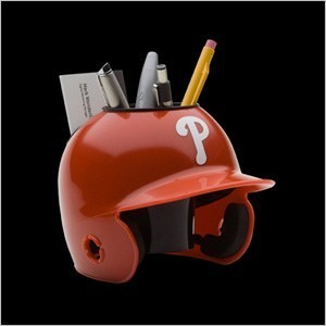 Philadelphia Phillies Authentic Mini Batting Helmet Desk Caddy