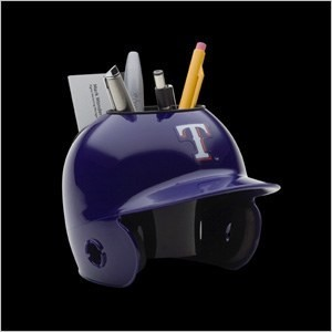 Texas Rangers Authentic Mini Batting Helmet Desk Caddy