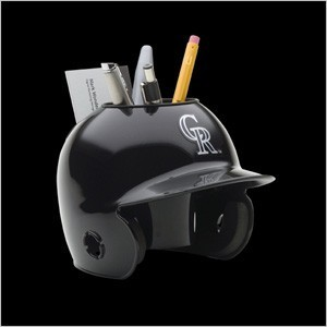 Colorado Rockies Authentic Mini Batting Helmet Desk Caddy