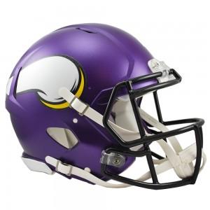 Riddell NFL Minnesota Vikings Satin Purple Revolution Speed Authentic Full Size Helmet