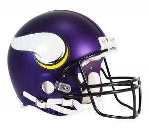Riddell NFL Minnesota Vikings Satin Purple VSR4 Authentic Full Size Helmet