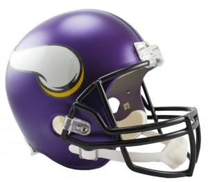 Riddell NFL Minnesota Vikings Satin Purple VSR4 Replica Full Size Helmet