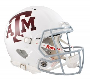 Texas A&M Aggies White Authentic Revolution Speed Full Size Helmet