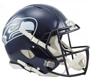 Riddell NFL Seattle Seahawks Matte Navy Revolution Speed Authentic Full Size Helmet