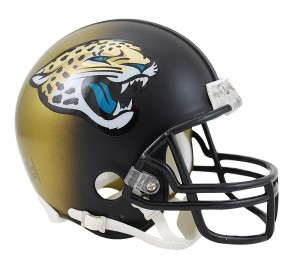 Riddell NFL Jacksonville Jaguars 2013-2017 Throwback Replica Vsr4 Mini Football Helmet