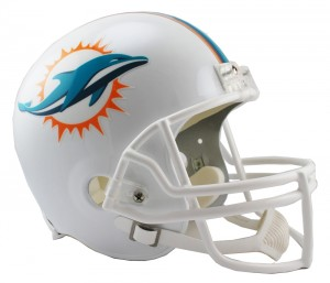 Riddell NFL Miami Dolphins 2013-2017 Throwback Replica Vsr4 Full Size Football Helmet