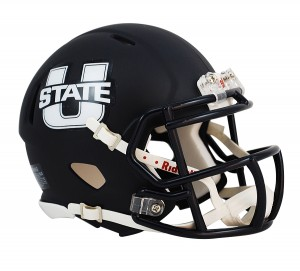 Utah St Aggies Matte Navy Revolution Speed Mini Helmet NEW 2013