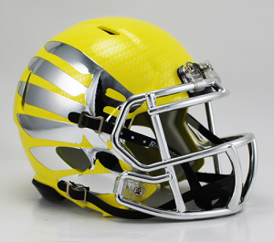 Oregon Ducks LiquidMetal Lightning HydroSkin Revolution Speed Mini Helmet