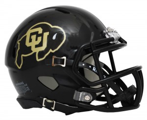 Colorado Buffaloes Matte Black Revolution Speed Mini Helmet