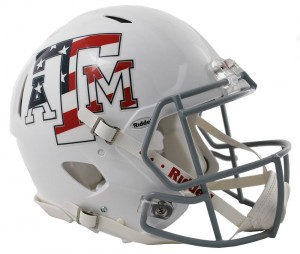 Texas A&M Aggies Stars & Stripes Authentic Revolution Speed Full Size Helmet NEW 2013