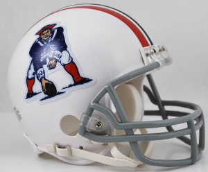 Riddell NFL New England Patriots 1965-1981 Throwback Replica Vsr4 Mini Football Helmet