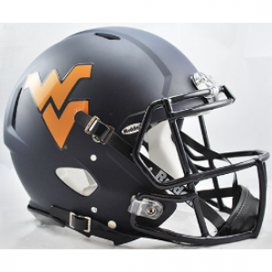 Riddell NCAA West Virginia Mountaineers Matte Navy Revolution Speed Authentic Full Size Helmet