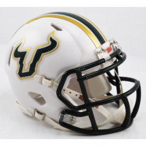 Riddell NCAA South Florida Bulls White Speed Mini Football Helmet