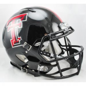 Riddell NCAA Texas Tech Red Raiders Chrome Decal Revolution Speed Authentic Full Size Helmet