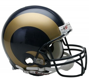 Riddell NFL Saint Louis Rams 2000-2016 Throwback VSR4 Authentic Full Size Helmet
