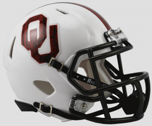 Oklahoma Sooners Bring The Wood White Revolution Speed Mini Helmet