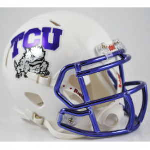 Riddell NCAA TCU Horned Frogs Chrome Decal Revolution Speed Mini Helmet