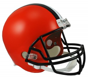Cleveland Browns 2015-2019 Throwback Riddell Replica Full Size Vsr4 Helmet