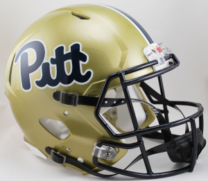 Pittsburgh Panthers Pitt Script Riddell Full Size Authentic Speed Helmet