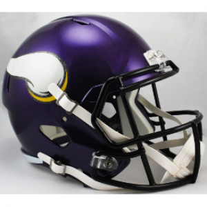 Riddell NFL Minnesota Vikings Satin Purple Revolution Speed Replica Full Size Helmet