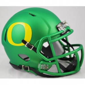 Riddell NCAA Oregon Ducks Apple Green Speed Mini Football Helmet