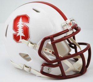 Stanford Cardinal Chrome Decal Revolution Speed Mini Helmet
