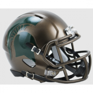 Riddell NCAA Michigan St Spartans Bronze Revolution Speed Mini Helmet