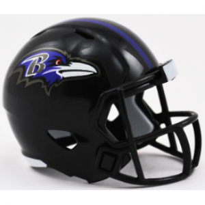 Riddell NFL Baltimore Ravens Revolution Speed Pocket Size Helmet