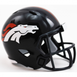 Riddell NFL Denver Broncos Revolution Speed Pocket Size Helmet