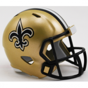 Riddell NFL New Orleans Saints Revolution Speed Pocket Size Helmet