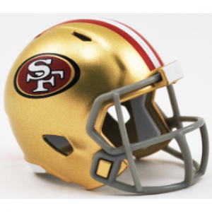 Riddell NFL San Francisco 49ers Revolution Speed Pocket Size Helmet