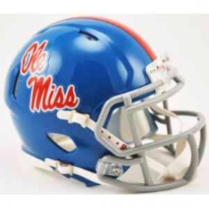 Riddell NCAA Mississippi (Ole Miss) Rebels Blue Speed Mini Football Helmet