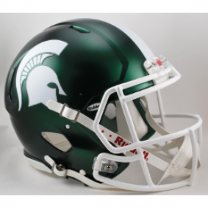 Riddell NCAA Michigan St Spartans Satin Green Revolution Speed Authentic Full Size Helmet