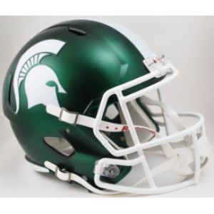 Riddell NCAA Michigan St Spartans Satin Green Revolution Speed Replica Full Size Helmet