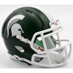 Riddell NCAA Michigan St Spartans Satin Green Speed Mini Football Helmet