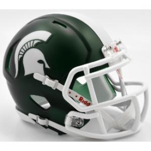 Riddell NCAA Michigan St Spartans Satin Green Revolution Speed Mini Helmet