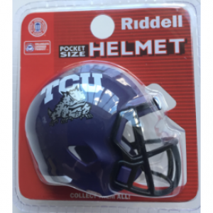 Riddell NCAA TCU Horned Frogs Revolution Speed Pocket Size Helmet