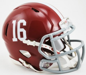 Alabama Crimson Tide #16 Revolution Speed Mini Helmet