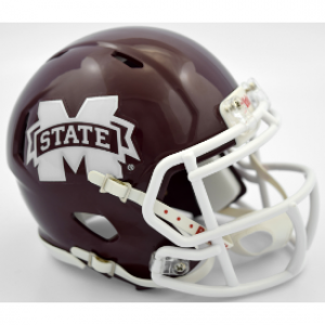 Riddell NCAA Mississippi St Bulldogs 2016 M State Speed Mini Football Helmet