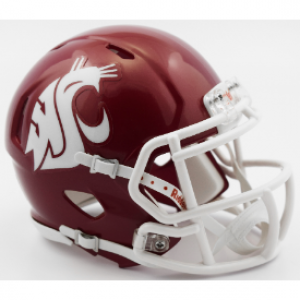 Riddell NCAA Washington St Cougars 2016 Crimson Speed Mini Football Helmet
