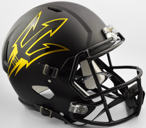 Riddell NCAA Arizona State Sun Devils Satin Black Replica Speed Full Size Football Helmet