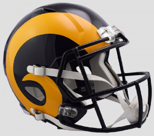 Los Angeles Rams 2019 Color Rush Riddell Full Size Replica Speed Helmet