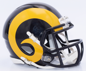 Los Angeles Rams 2019 Color Rush Riddell Mini Speed Helmet
