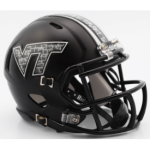 Riddell NCAA Virginia Tech Hokies Matte Black Speed Mini Football Helmet