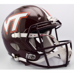 Riddell NCAA Virginia Tech Hokies Center Stripes Replica Speed Full Size Football Helmet
