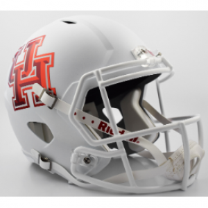 Riddell NCAA Houston Cougars Matte White Revolution Speed Authentic Full Size Helmet