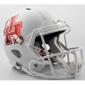 Riddell NCAA Houston Cougars Matte White Revolution Speed Authentic Full Size Helmet